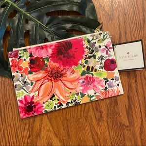 NEW Kate Spade Dahlia Pencil Pouch Pink Floral